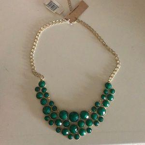 NWT Nordstrom Devan emerald statement necklace
